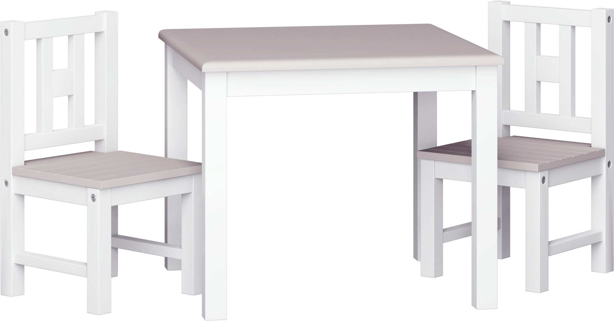 2 chairs IB-Style Childrens seating area LUCA table and chair nursery furniture kids 1 table 3 combinations