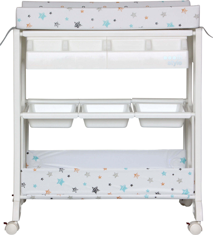 ib style wickelkommode wickeltisch rollbar badewanne babyzimmer wickelauflage ebay. Black Bedroom Furniture Sets. Home Design Ideas
