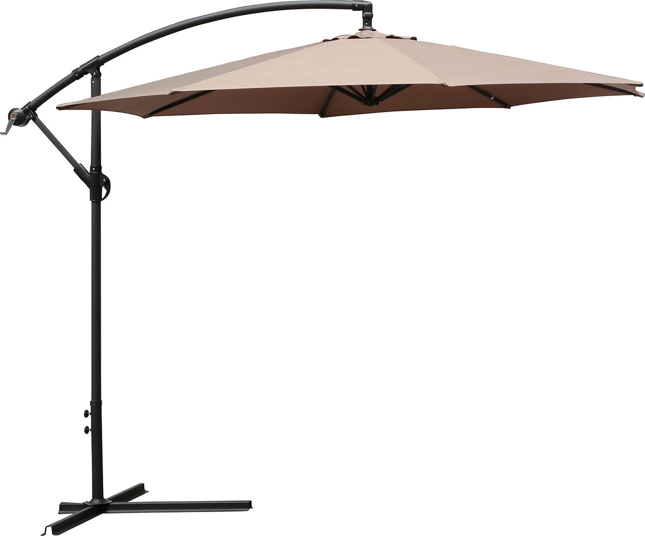 ampelschirm siena sonnenschirm 300 cm farbe taupe. Black Bedroom Furniture Sets. Home Design Ideas