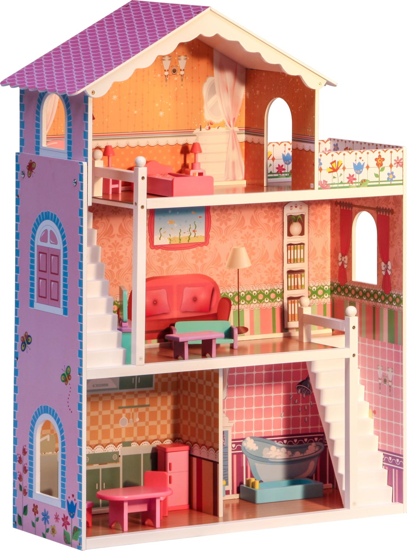 Casa di sogno delle bambole coco adatta barbie 3 for Piani di casa con passaggi e stanze segrete