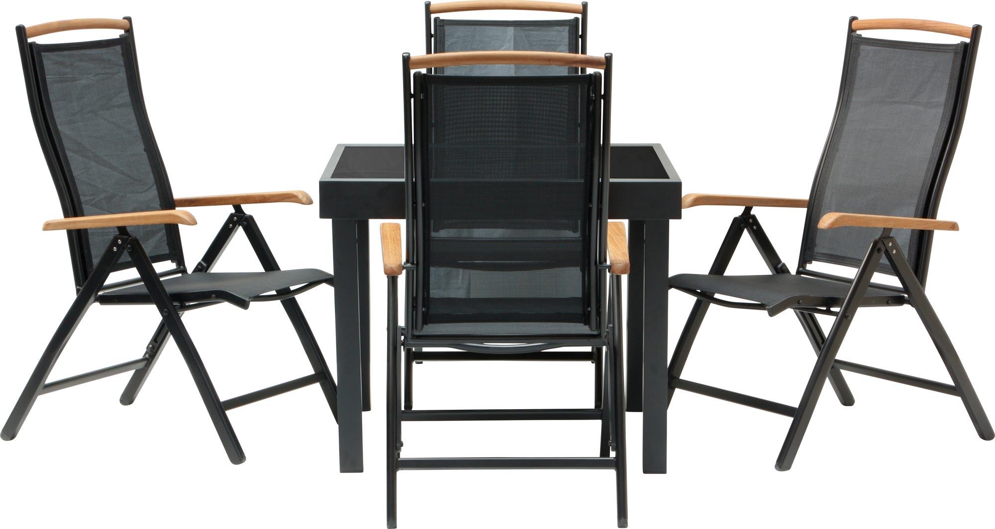 Salon de jardin diplomat quadro noir chaise pliable 3 for Chaises pliables