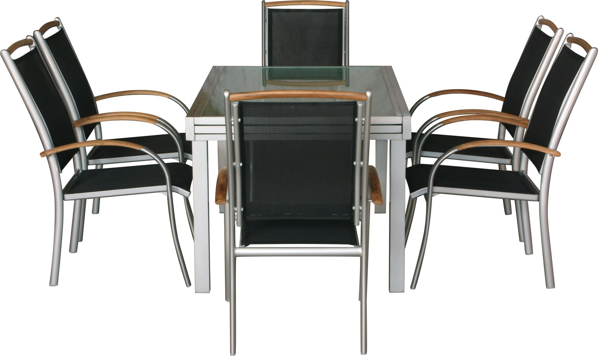 Premium set mobili da giardino diplomat xxl 9 pezzi - Mobili da giardino in teak ...