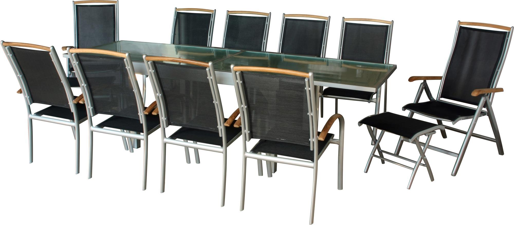 premium gartengruppe diplomat xxl 13x silber garnitur. Black Bedroom Furniture Sets. Home Design Ideas