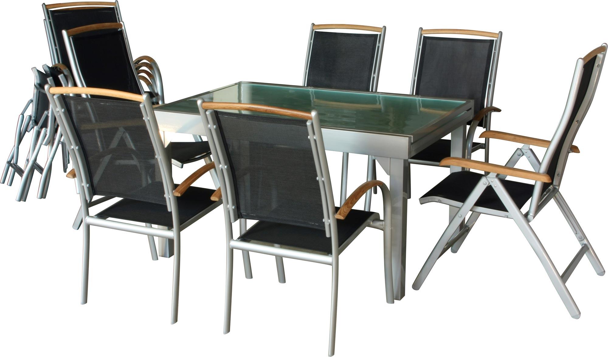 IB-Style® DIPLOMAT XXL salon de jardin ALU 13pcs I Table 135-270 I ...