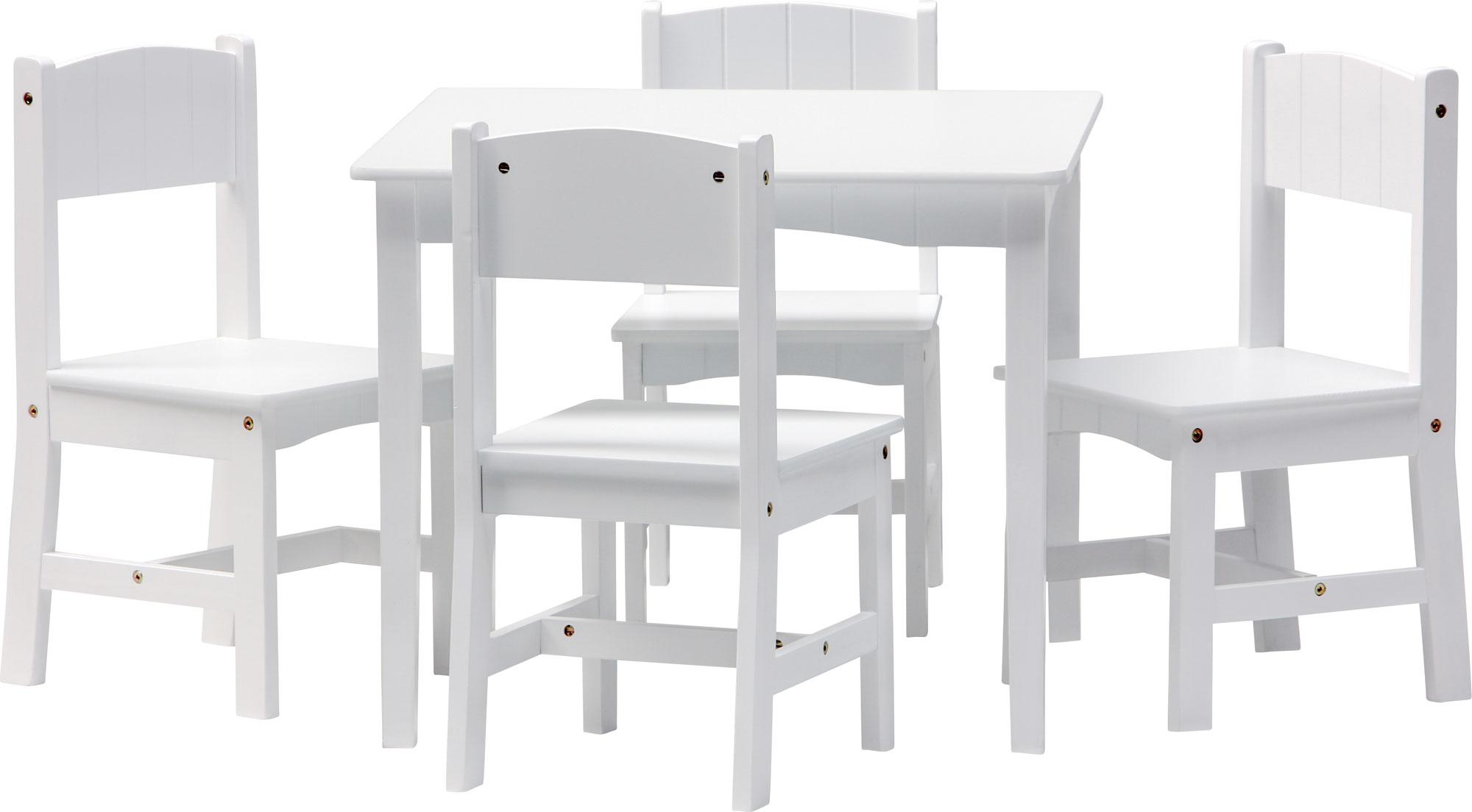 Set di mobili per bambini enzo tavolo e 4 sedie legno - Tavolo e sedia per bambini ...
