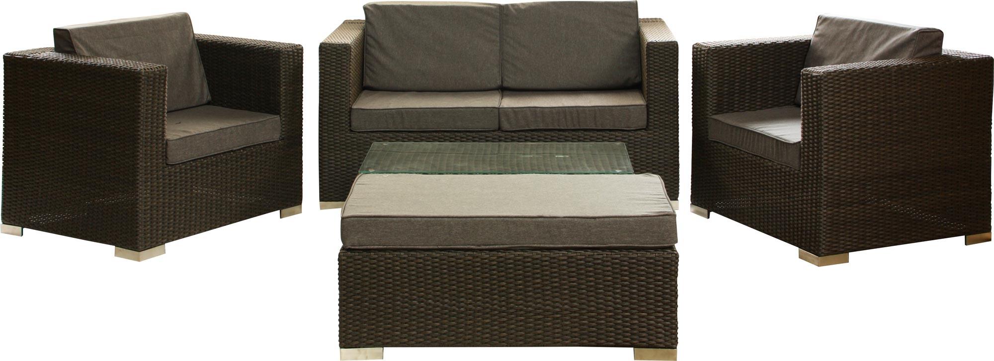 ssv luxus lounge garnitur exquise 16 tlg gartenm bel rattan sitzgruppe uvp 1299 ebay. Black Bedroom Furniture Sets. Home Design Ideas