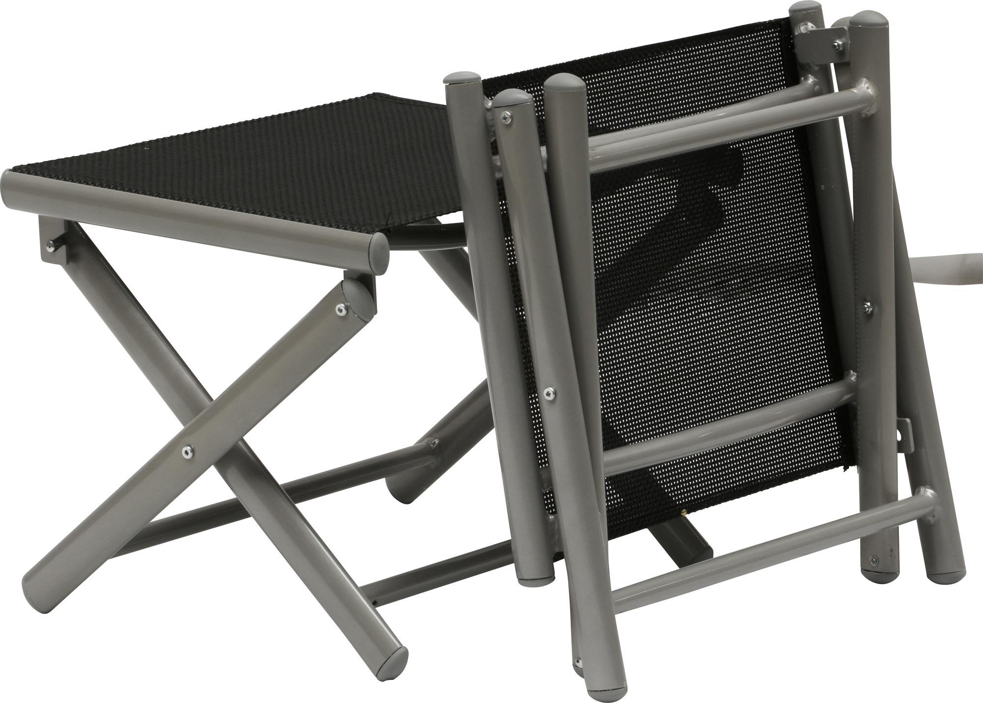 banc de pieds jamaica star alu noir salon de jardin chaise repose pieds ebay. Black Bedroom Furniture Sets. Home Design Ideas