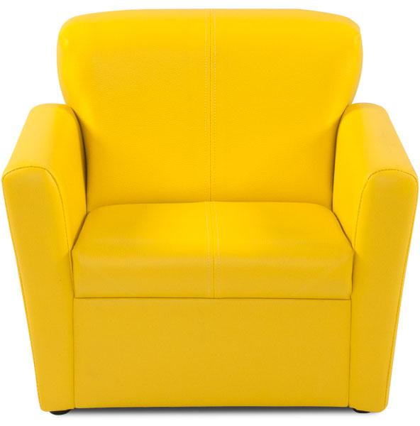 kindersessel gelb sessel kindersitz abwaschb lederimitat kindersofa sofa ebay. Black Bedroom Furniture Sets. Home Design Ideas