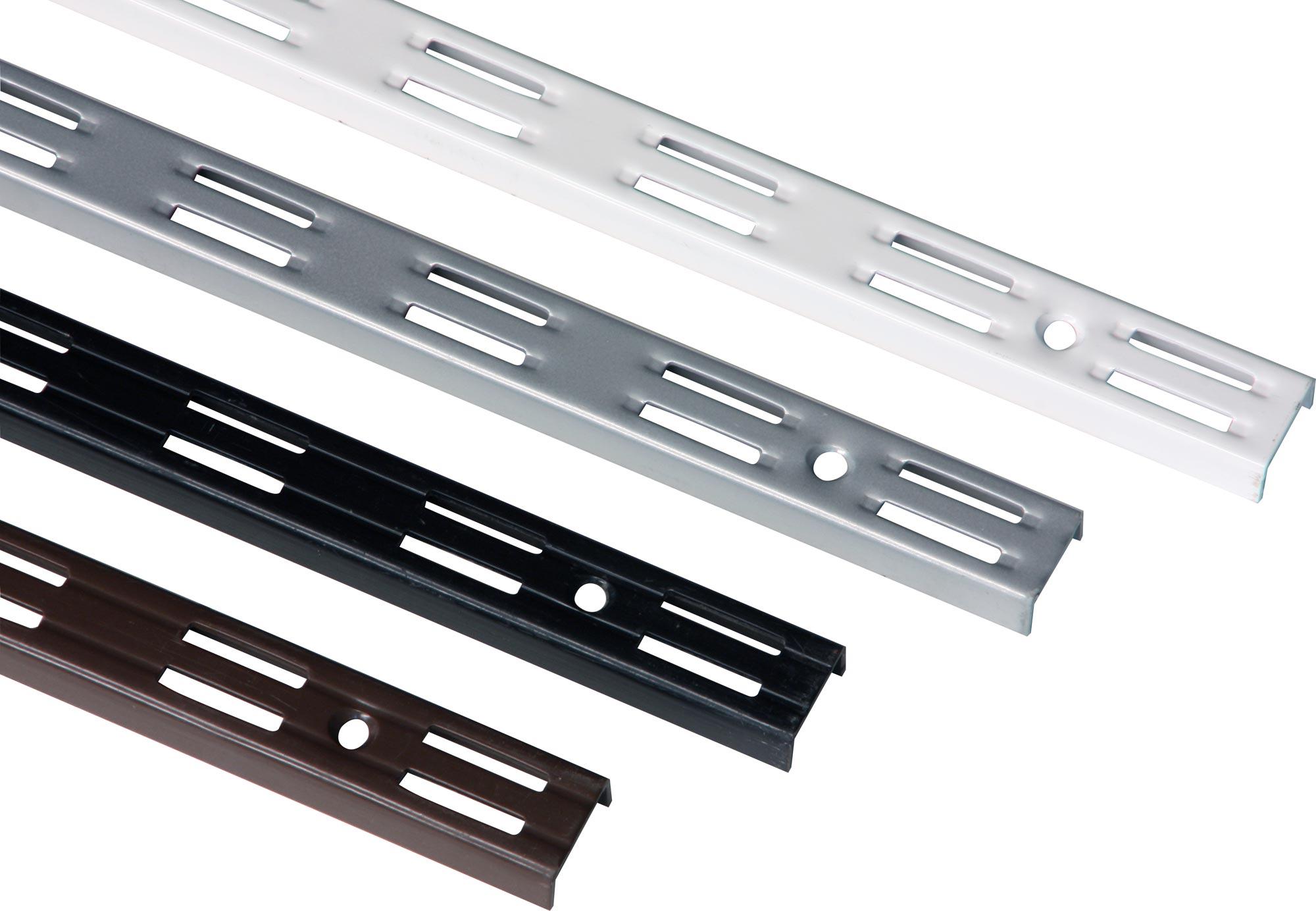 Farbe wählbarRegalsystem Regal Wandschiene RASTER 50 mm1-reihigGrösse