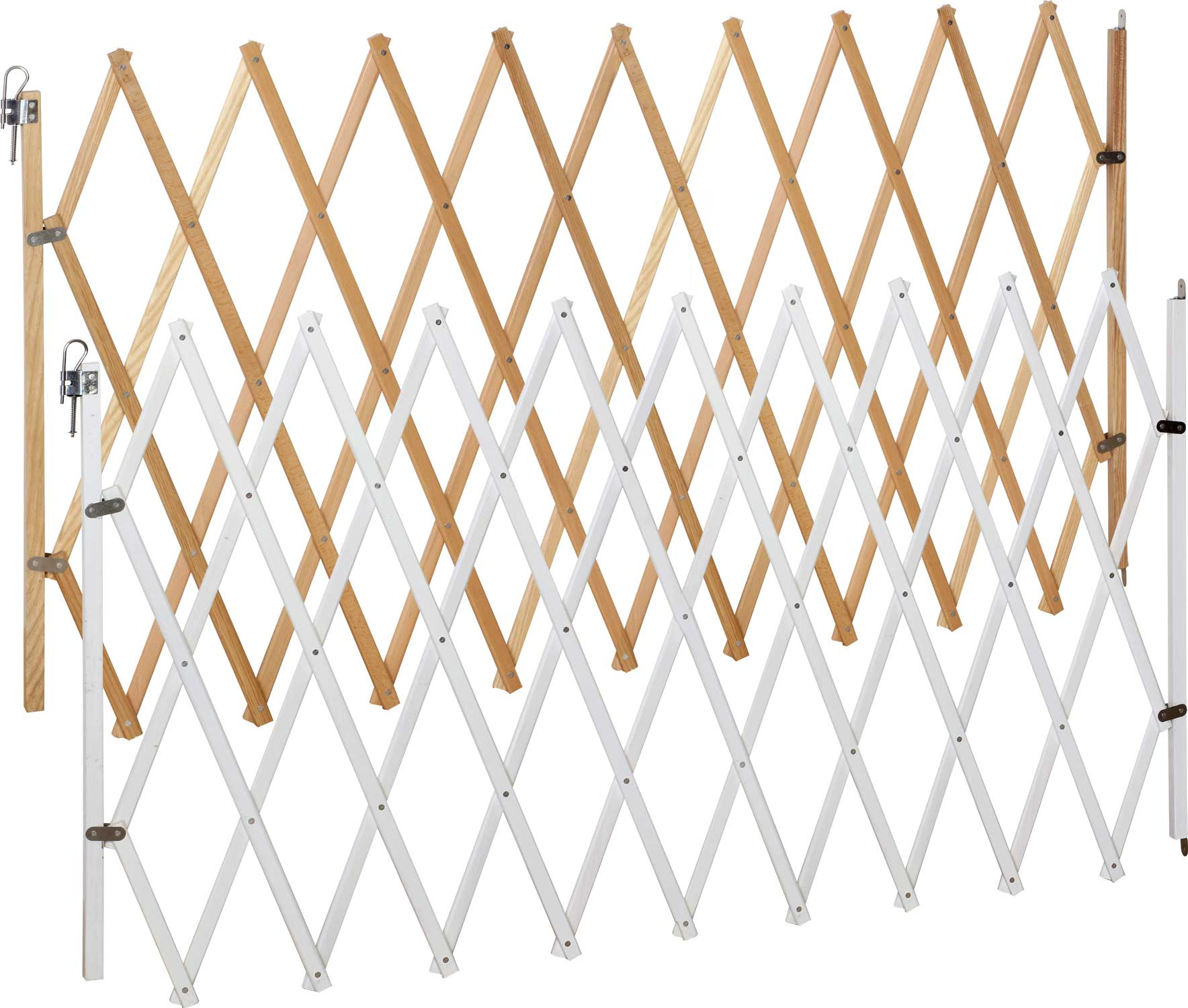Cancelletto per cani lin xxl naturale e bianco 62 230 cm for Cancelletto per cani usato