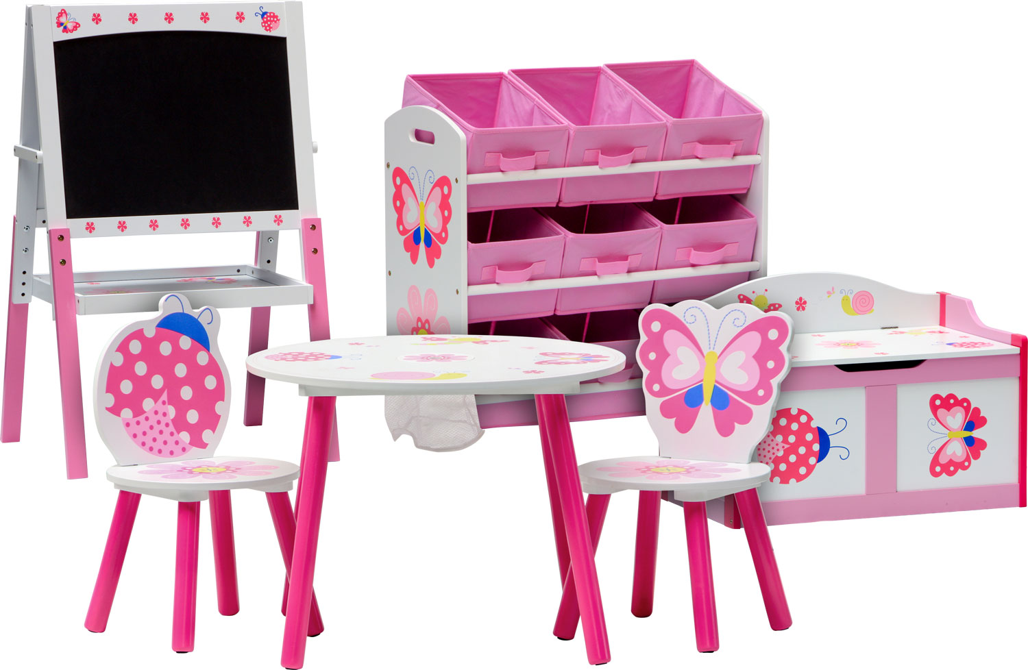 3 combinations 1 cheast bench Childrens seating area NOA table and chair set toybox bench nursery furniture kids 1 table IB-Style 2 chairs