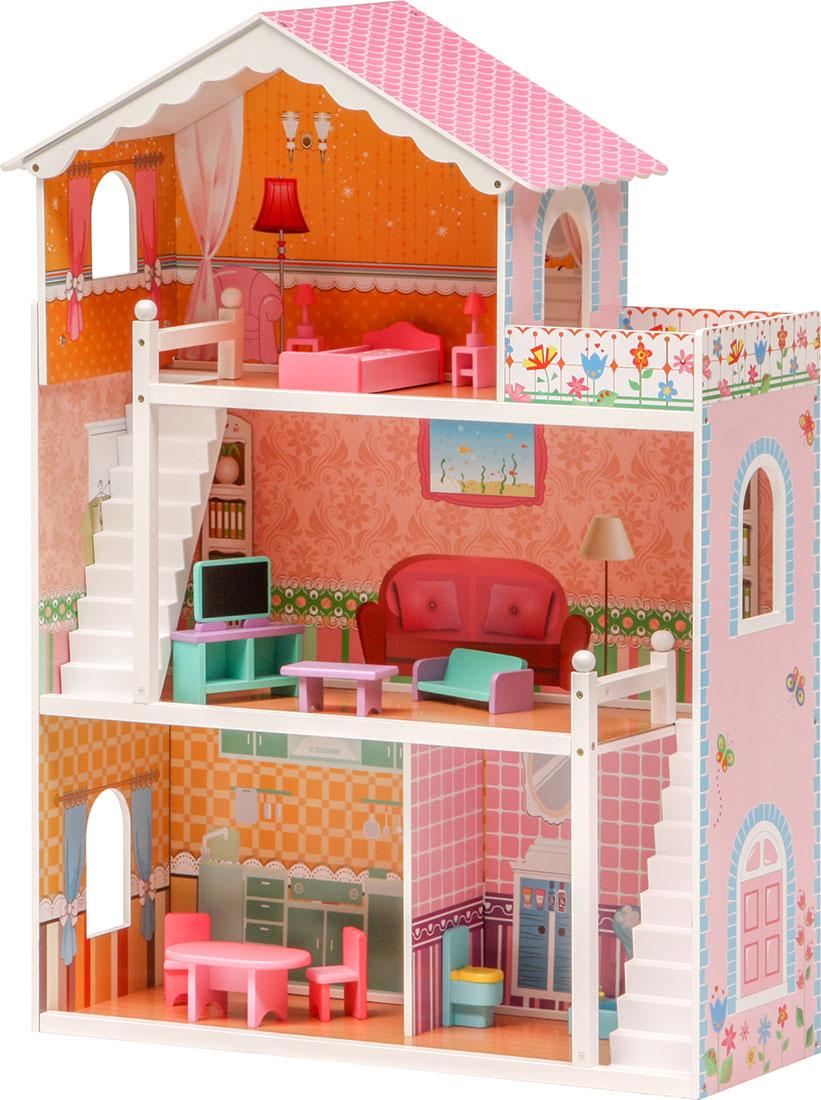 Casa di sogno delle bambole coco adatta barbie 3 for Piani di casa del vecchio mondo
