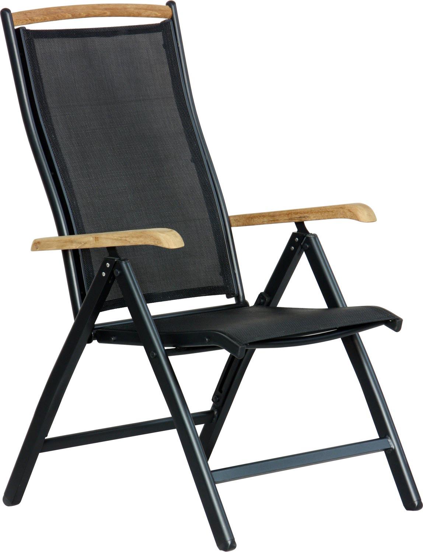 Salon De Jardin Ikea Rennes :  sur Chaise DIPLOMAT pliable noir  teck salon de jardin tuinstoel alu