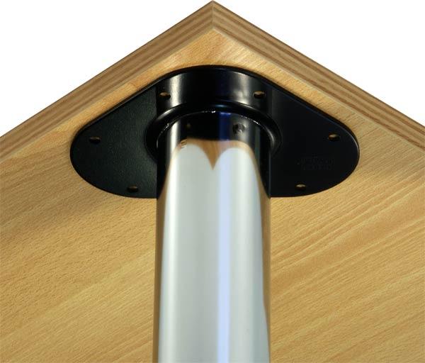 pied de table 90 cm 60 mm chrom meuble cuisine pieds de table neuf ebay. Black Bedroom Furniture Sets. Home Design Ideas