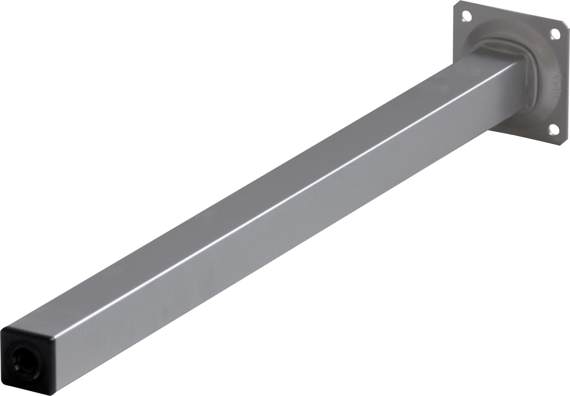 de table carré 30 cm ARGENTÉ acier meuble vis cuisine pieds de table