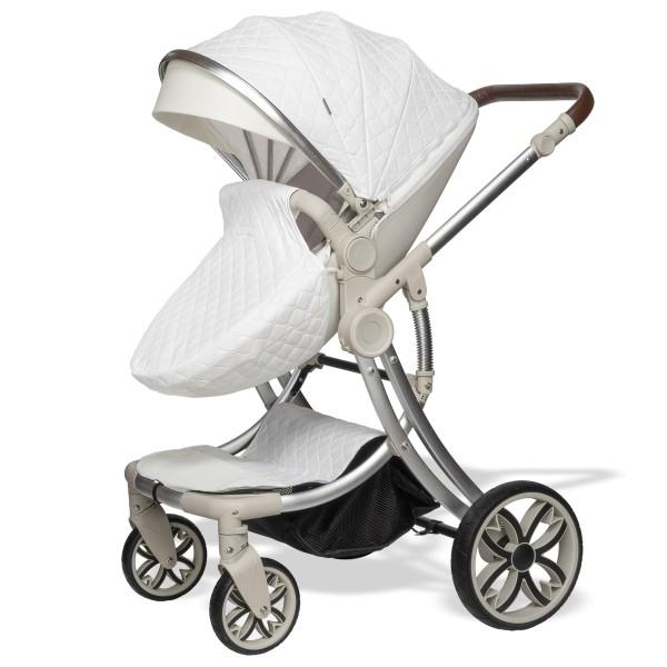 Juma 3 in 1 Kinderwagen inkl. Babyschale   Weiß