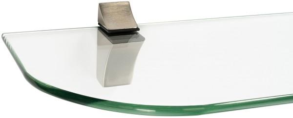 Glasregal 6mm + Clip ECO Edelstahloptik