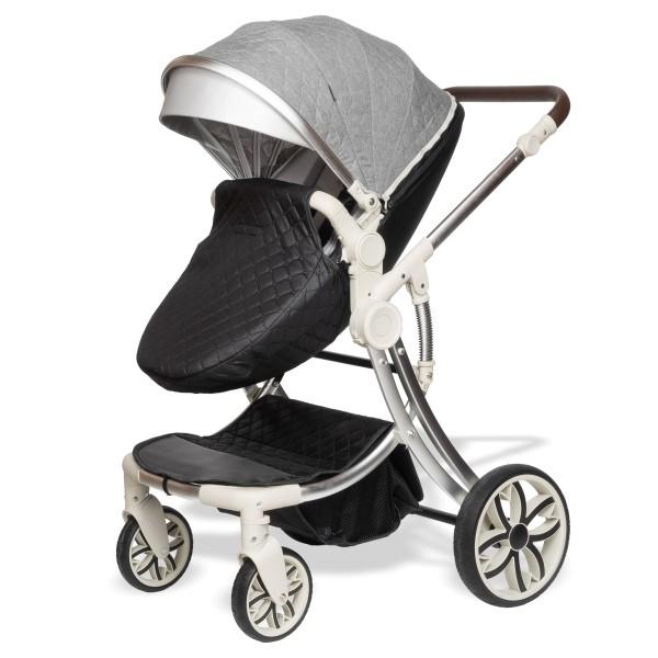 Juma 2 in 1 Kinderwagen ohne Babyschale   Grau / Schwarz
