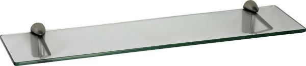 Glasregal 8mm eckig + Clip TRIANGOLO Edelstahloptik