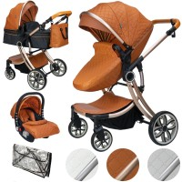 Juma 3 in 1 Kinderwagen inkl. Babyschale | Marron