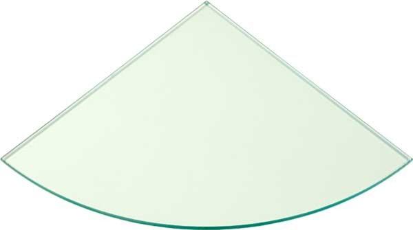 Eck-Glasboden 10 mm klar