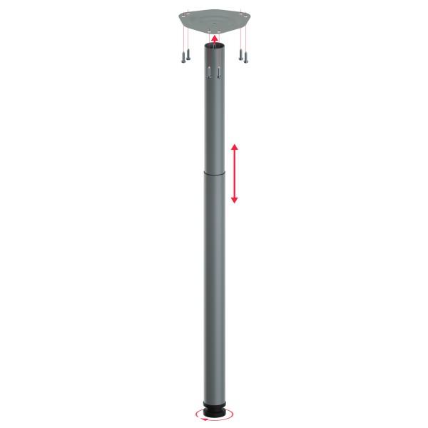 Teleskopfuß Ø 60 mm