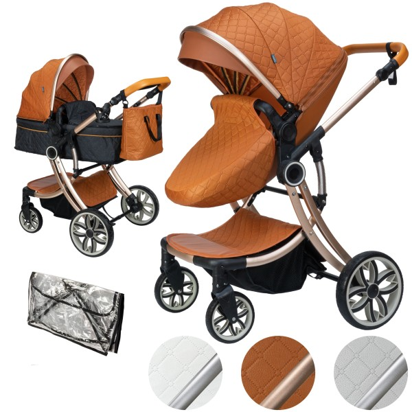 Juma 2 in 1 Kombi-Kinderwagen ohne Babyschale | Marron