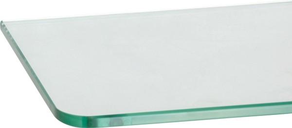 Glasregal 8mm abgerundet + Clip PIAZZA