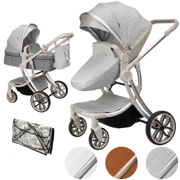 Juma 2 in 1 Kinderwagen ohne Babyschale | Grau