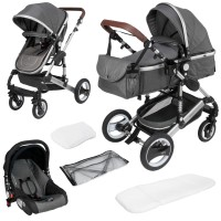 SOLE 3 in 1 Kinderwagen Grau