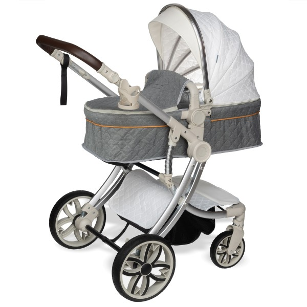 Juma 3 in 1 Kinderwagen inkl. Babyschale | Weiß