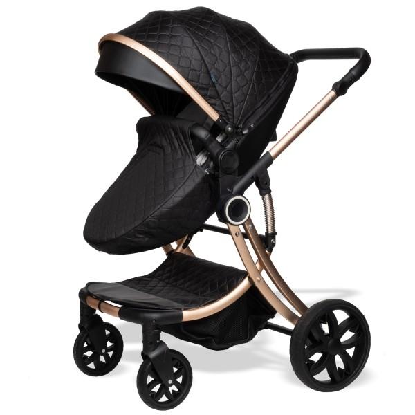 Juma 3 in 1 Kinderwagen inkl. Babyschale | Schwarz