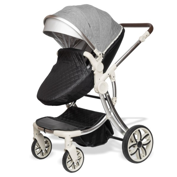 Juma 3 in 1 Kinderwagen inkl. Babyschale | Grau/ schwarz