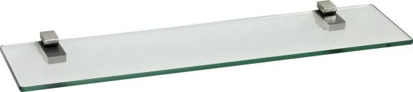 Glasregal 8mm eckig + Clip KUBI Edelstahloptik