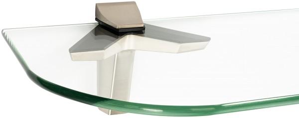 Glasregal 6mm + Clip DUO Edelstahloptik