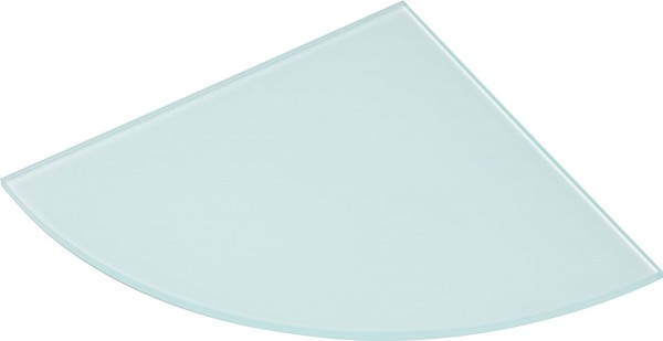 Eck-Glasboden 10 mm satiniert
