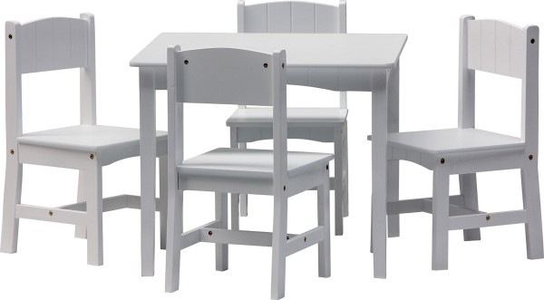 ENZO Kindermöbel: Tisch + 4 Stühle